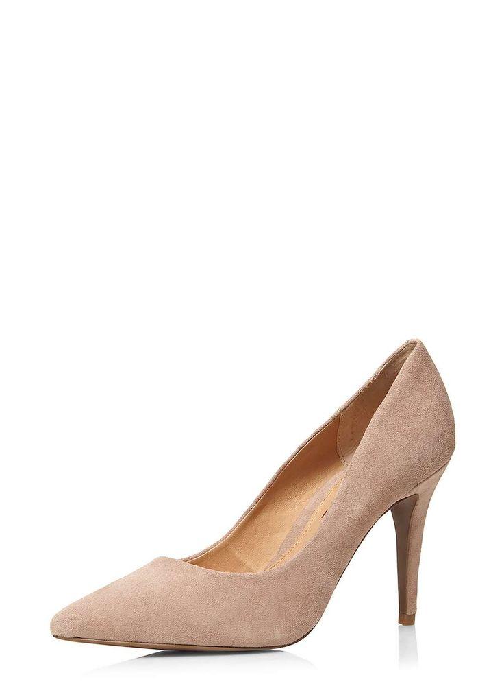 **Ravel Mink Suede Brown Court Shoes - Dorothy Perkins
