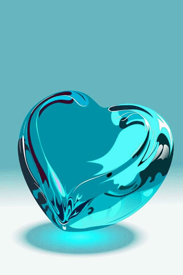 Turquoise glass heart                                                                                                                                                      More