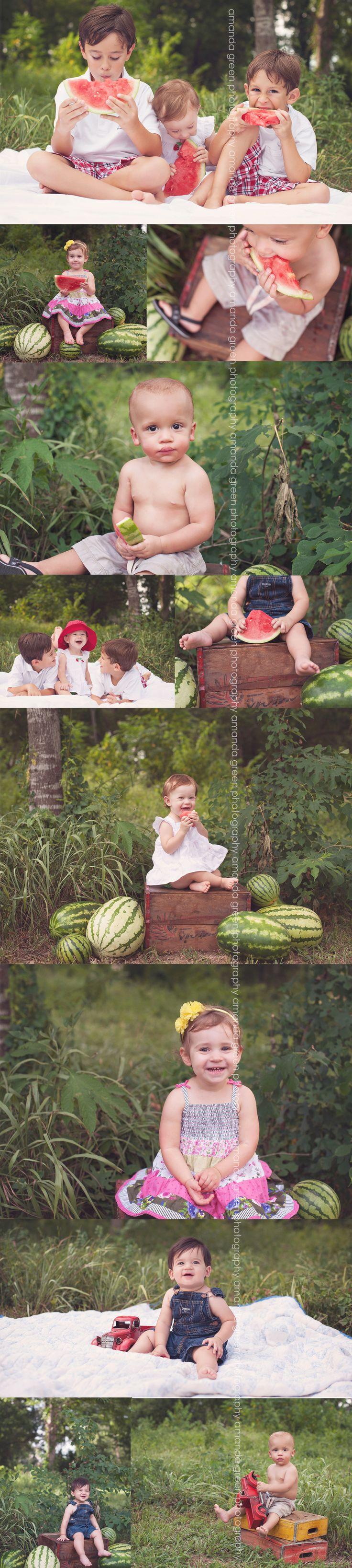 watermelon minis - summer minis - amanda green photography - katy, TX child photographer