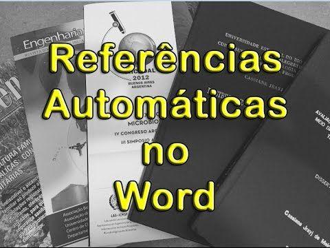 Referências Bibliográficas Automáticas no Word e nas normas ABNT - passo...