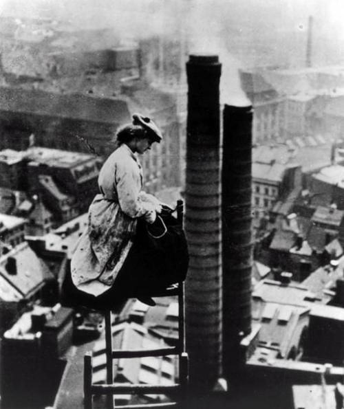 Female Chimney Sweep, Berlin, c1910. @designerwallace