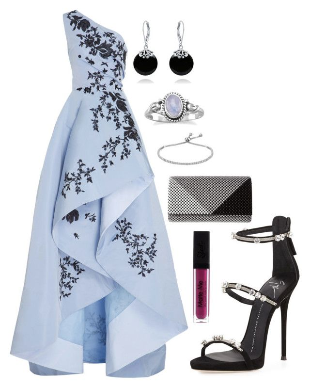 """Sweet!!"" by kelornp ❤ liked on Polyvore featuring Monique Lhuillier, Giuseppe Zanotti, Jessica McClintock and Bling Jewelry"