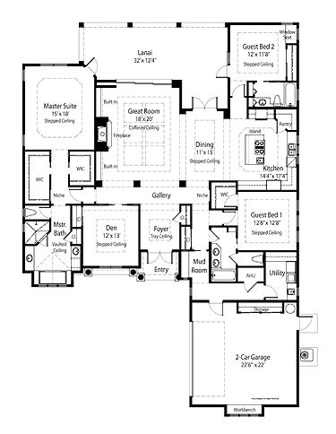 French country right sized luxury hwbdo75340 french for French country house plans open floor plan