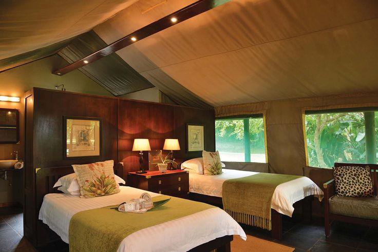 Luxury Twin Tent interior. 4 Star #Falaza Game Park & Spa! http://falaza.co.za/