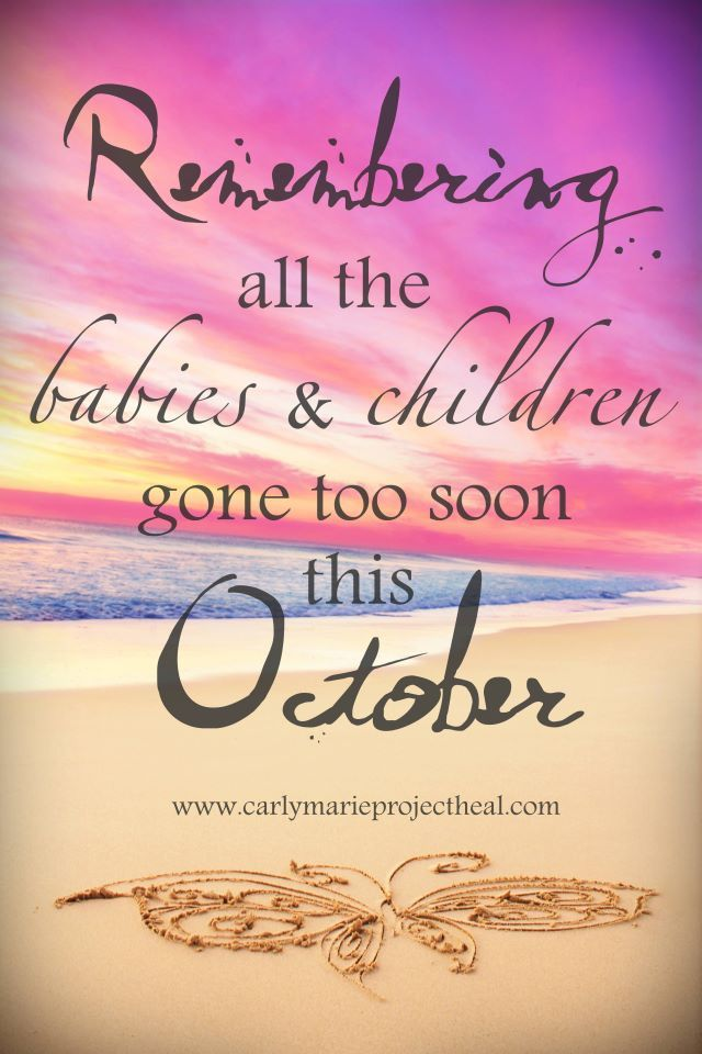 October is Pregnancy & Infant Loss Awareness month