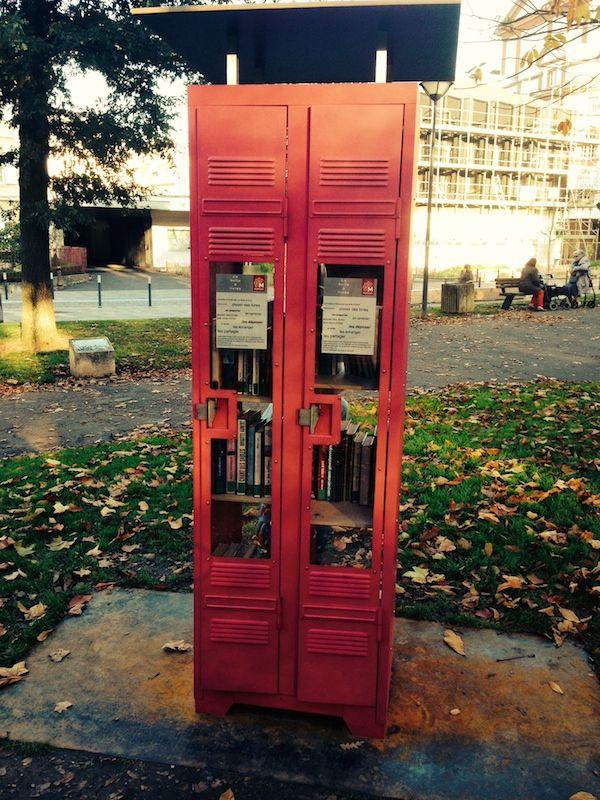 boîte à livres, parc steinbach
