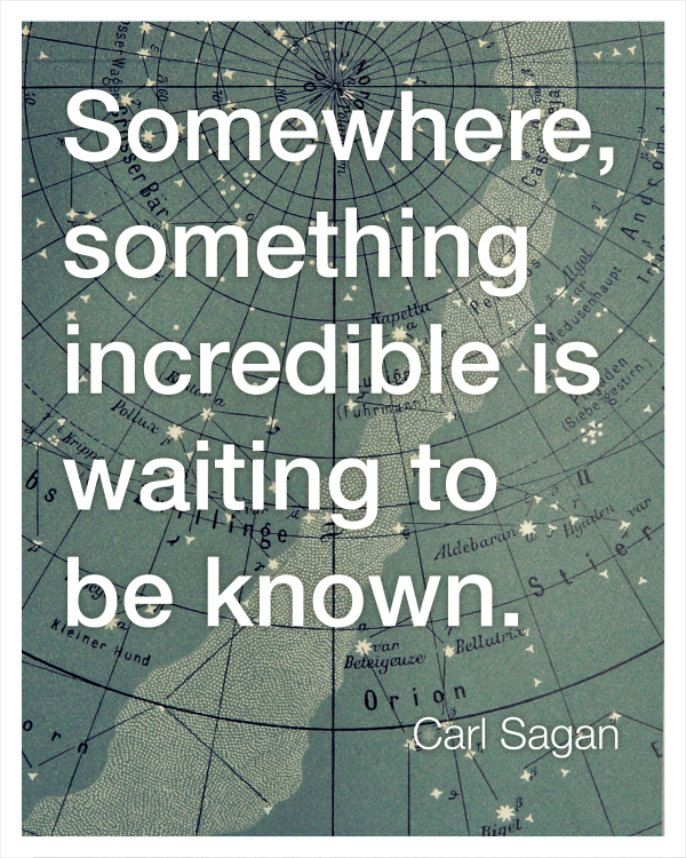 Think this might be my favorite. Carl Sagan Inspirational Quote Print by bredlo on Etsy