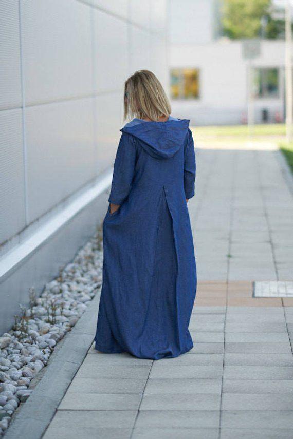 9c4738b801 Linen Kaftan Dress
