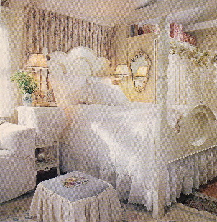 wonderful romantic shabby chic bedroom | Beautiful Shabby Chic bed | cottages | Pinterest ...