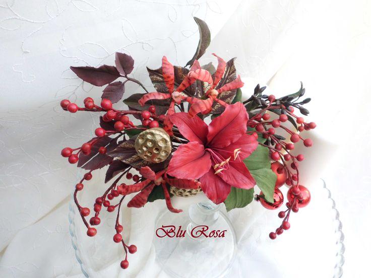 ameryllos e orchidee..BLU ROSA