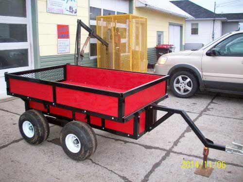 Download ATV Trailer Plans. Plans for a ATV Utility Trailer with a walking beam suspension. The walking beam keeps your load level even when travelling over extremely rough terrain.