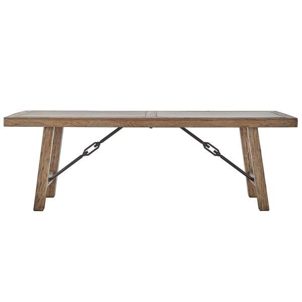 Dakota Oak Reinforced Concrete Trestle Dining Table by iNSPIRE Q Artisan