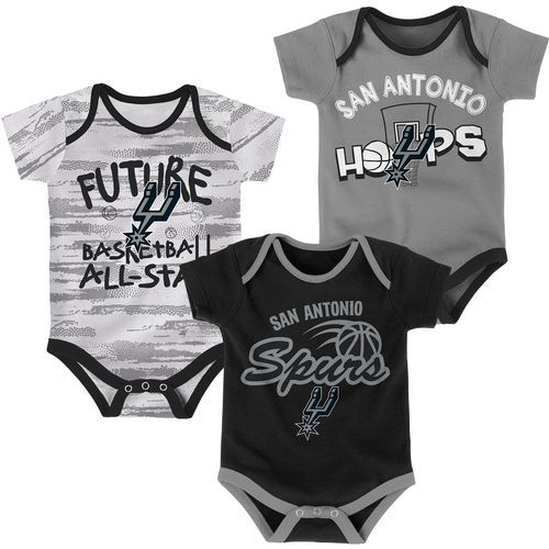 NBA Infants' San Antonio Spurs 3-Piece Body Suit Set (Multi, Size 24 Months Infant) - Pro Licensed Product, Nba Youth at Academy Sports