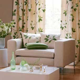 Colores para Decorar: Cortinas para salones en función del color de las paredes