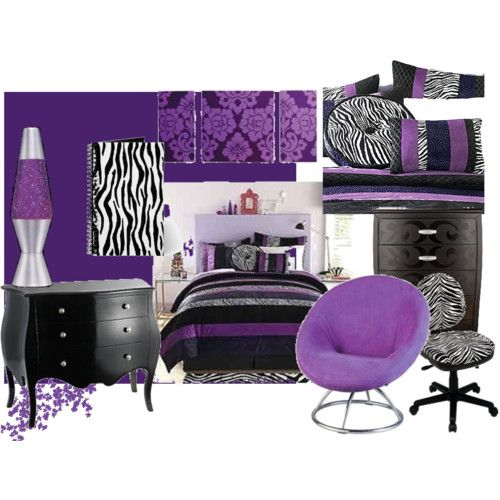 Purple zebra purple zebras and dorm for 16 year old bedroom designs