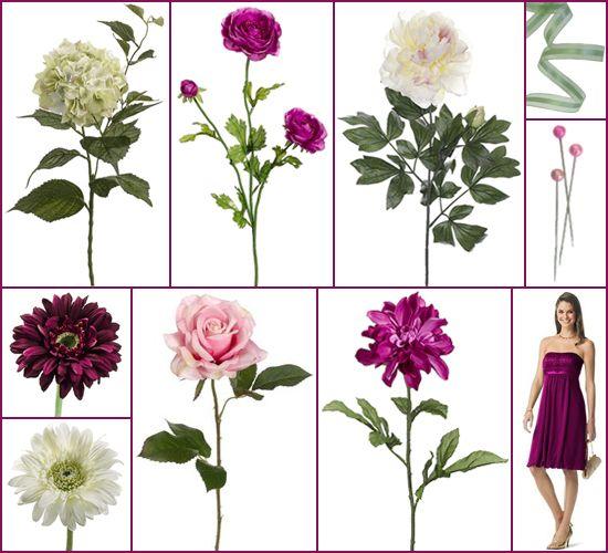 sangria wedding colors | Sangria Wedding Inspiration Board Artificial Flowers