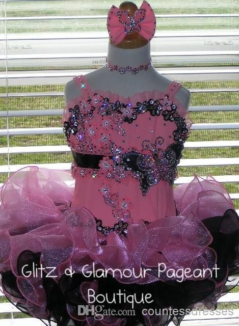 Pink And Black Spaghetti Ball Gown Flowers Appliques Tiers Necklace Bow Organza Min Little Girl Pageant Dress Glitz 2014 Glitz Pageant Dresses For Sale Glitz Pageant Dresses For Toddlers From Princessdress, $89.01| Dhgate.Com