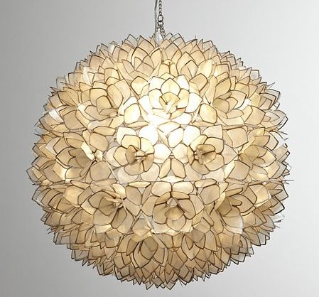 Since Capiz Shell Chandeliers Scream Glamorous Beach House Consider This Pendant Light That Has Fl And Metallic Detail