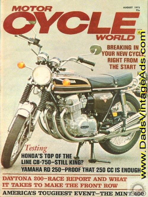 1973 Honda CB750-K3 Road Test