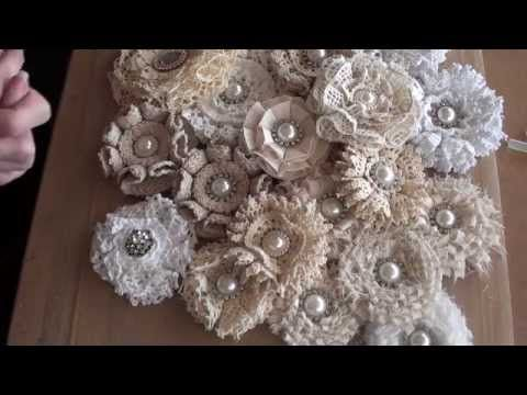 AWESOME!  Trying to do these with my pathetic glue gun.  Might have to get a fine point one.  But soooo cute!  Great tutorial!  Shabbychic loop flower tutorial. - YouTube