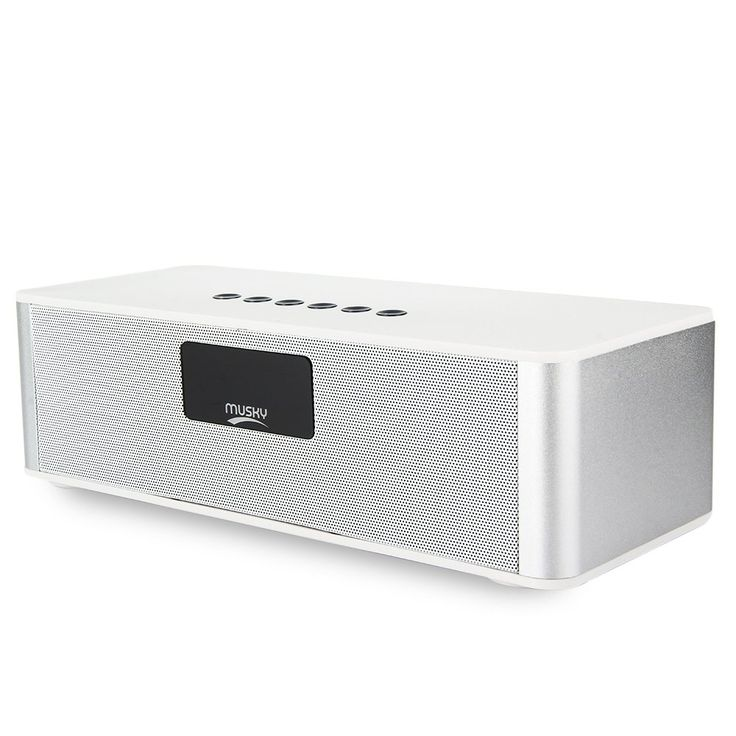 Portable Wireless Bluetooth V4.0 Speaker Multimedia HIFI Speakers Support Microphone, LED Display, Alarm Clock, FM radio, etc.(DY21L-White). High Sensitivity FM Radio with Internal Antenna - Can give you a different listening experience wherever and whenever you want; It can also be used as a alarm, no worry about forgetting the time. LED Display - It shows Time, Alarm clock, Line in, FM radio, charging Status, Bluetooth status and so on; The device can be inserted USB cable, the red LED…