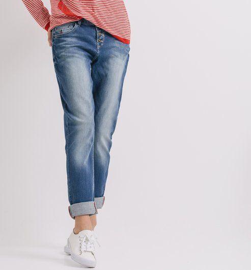 Boyfriend Jeans mittelblau denim - Promod