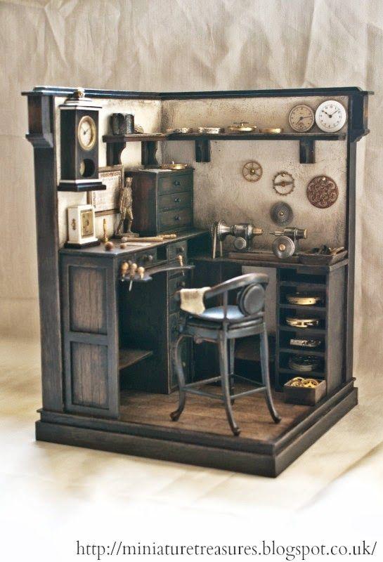Miniature Treasures looks like an interpretation of Bob Cratchett's desk in Scrooge's offices.