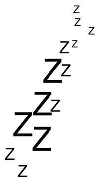 I prefer to spend my time sleeping