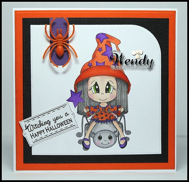 Crazy4flowers cards: Digital Delights - Spidey and Peggy Legz Set