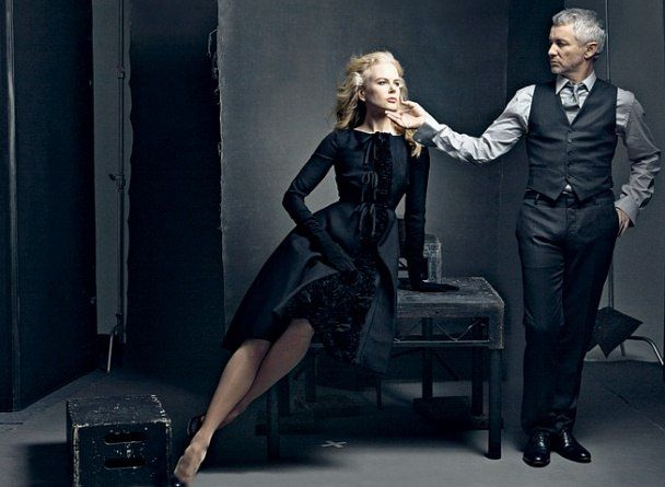Nicole Kidman and Baz Lurhmann though the have worked on two films together they were shot for Australia (2008) by Annie Lebowitz for Vanity Fair for the Hollywood Portfolio 2009