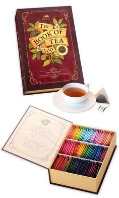 WANT! the book of tea 100 tea bags