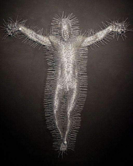 David Mach (2011) Die Harder (Crucifixion).