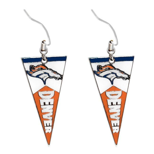 Show off a sense of style with your game day outfit with these Denver Broncos earrings. Designed with a cute pennant charm, these earrings are a marvelous gift for any sports fan.