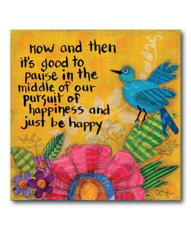 Look at this #zulilyfind! 'Just Be Happy' Wrapped Canvas, $30 !!   #zulilyfinds