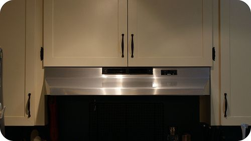 Stainless steel range hood (courtesy of contact paper)