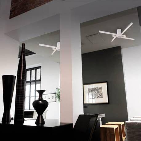 Plafón de espectacular diseño realizado en acero y policarbonato con acabado en blanco. Incopora tecnología LED que te proporcionará un ahorro considerable en la factura de la luz. Destaca su diseño compuesto por formas geométricas rectangulares, perfecta para iluminar estancias como el salón, comedor, dormitorio...