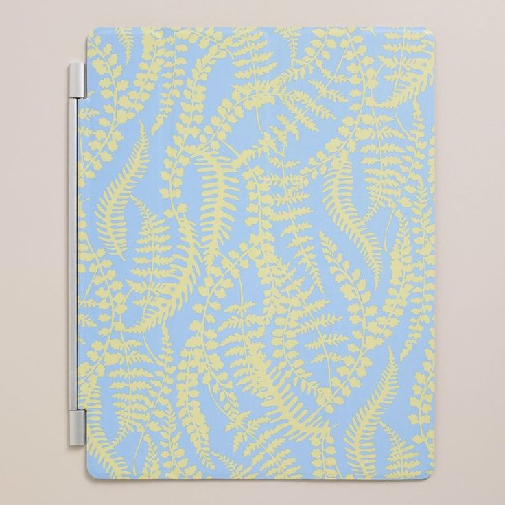 Magnetic Cover Fits iPad 2 3 4 Cost Plus World Market New Blue Yellow Leaves NIP | eBay