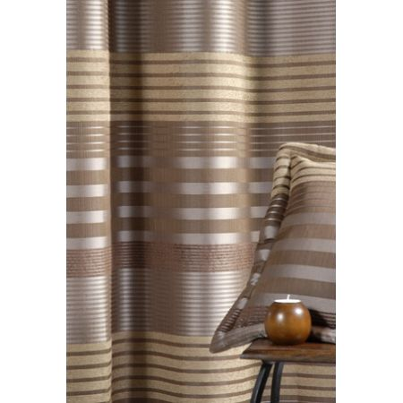 Ce rideau ameublement prêt à poser est en matière jacquard  Le rideau fait 140 cms de largeur et 260 cms de hauteur.  Nouvelle tendance : les oeillets carrés sont posés en biais