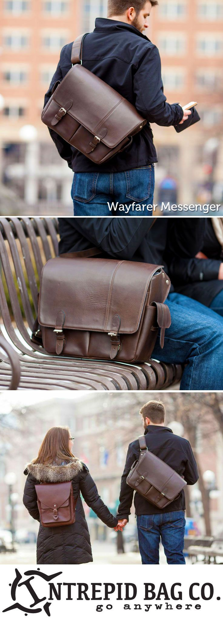 "The Wayfarer Messenger from the Intrepid Bag Co. Spacious and comfortable with room for a 15"" laptop, a hidden passport pocket, and much more! Available on Kickstarter now! www.IntrepidBags.com"