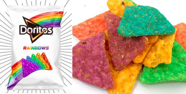 Doritos Releases Rainbow-Coloured Crisps For The Most Amazing Reason.