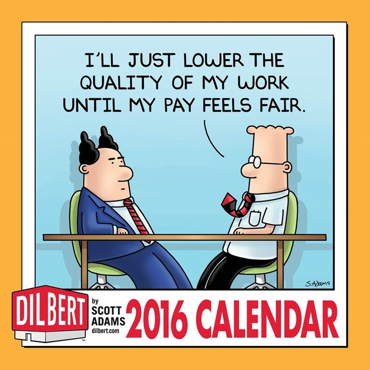 Short on wall space in your cube? There's room for this perfect-size calendar plus the company phone list and pictures of your cat. It includes a full-color #Dilbert strip with an expanded panel each month.   http://www.andrewsmcmeel.com/calendars/detail?sku=9781449465162&utm_source=gc-pinterest&utm_medium=socialmarketing&utm_content=pinboard-2016calendar-dilbert-wall&utm_campaign=social   #GoComics #comics #calendars