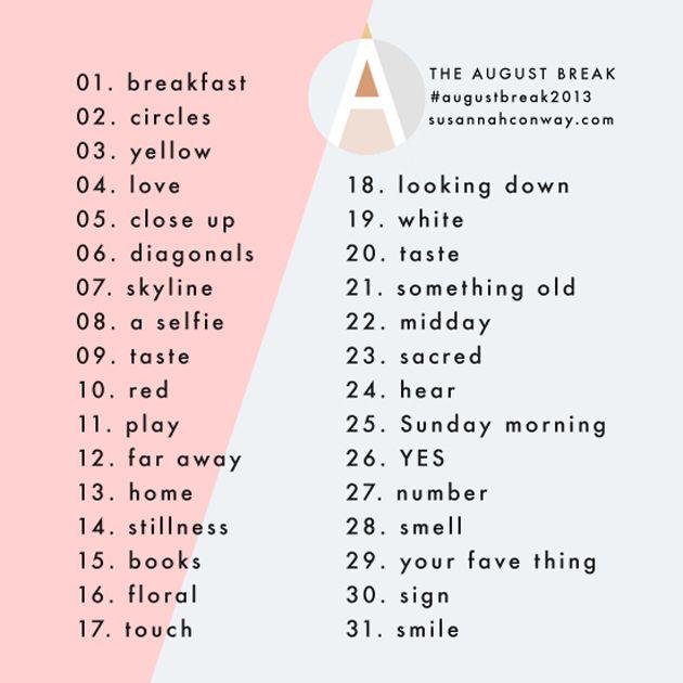 Instagram challenge: August Break 2013