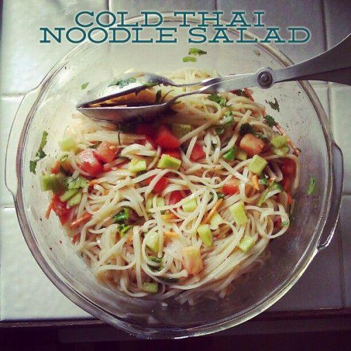 vegan cold thai noodle salad