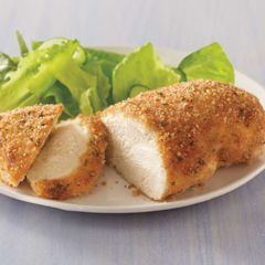 Hellmann's mayonnaise + grated parm cheese + italian bread crumbs over chicken breasts. THIS IS SO GOOD! My husband told me to pin this so other husband's can enjoy it!!!