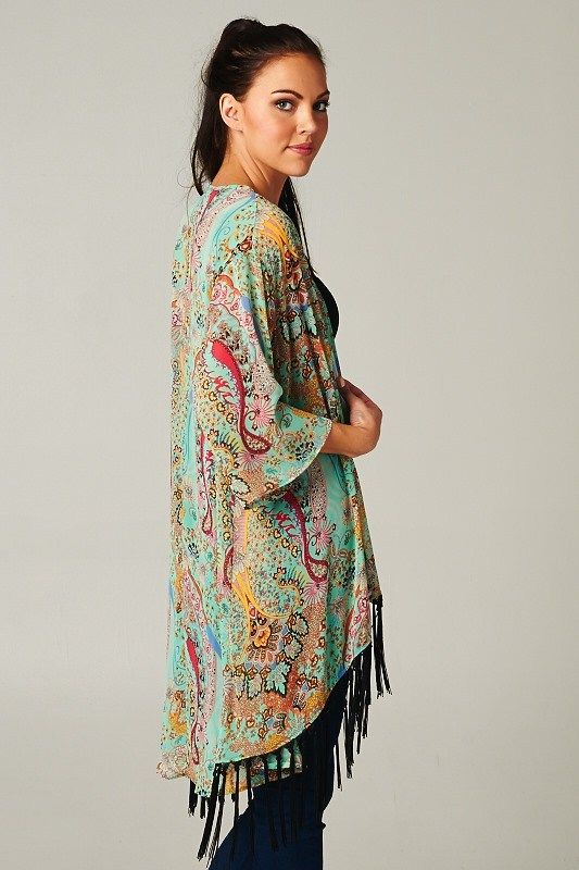 123 best Kimono images on Pinterest | Kimonos, Beach and Black
