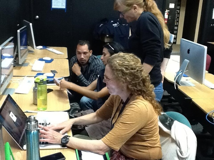 Photo from May's Hackathon at Monte Vista with Anthony DiLaura.