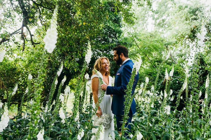 Creative Wedding Photographer © Babb Photo capturing fun wedding portrait amongst the green garden - Alice's best of 2015