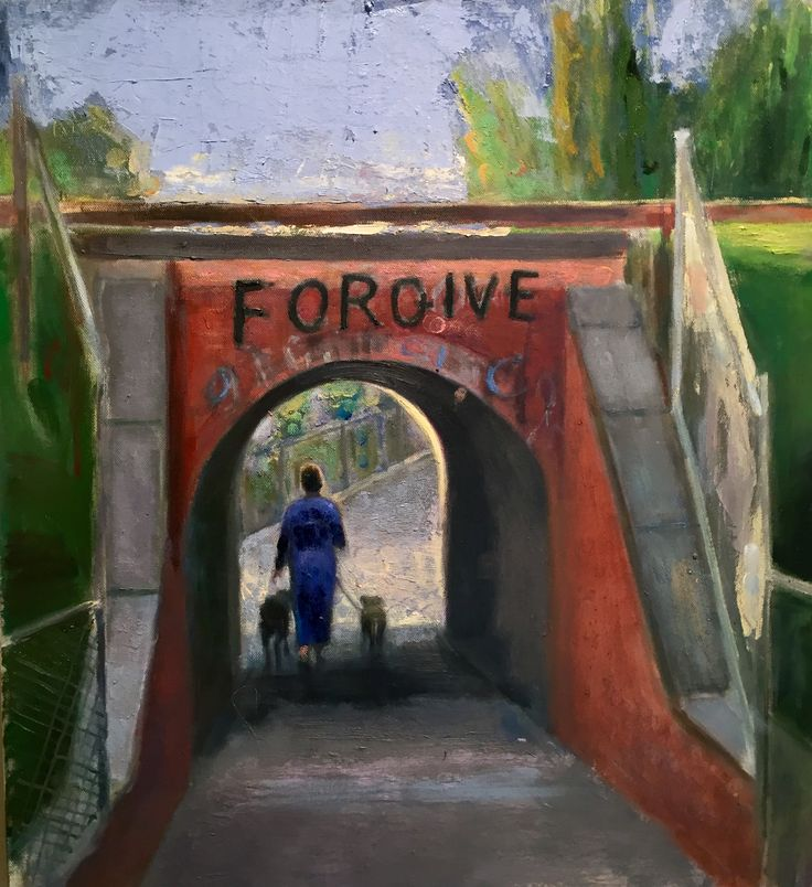 Fairfield Underpass. Forgive. Oil on canvas. Andrew McLean.