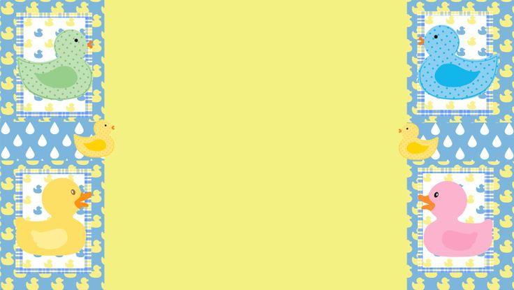 Cancion Infantil Baño De Burbujas:Rubber Duck Baby Shower Background