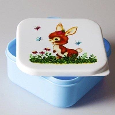 Lunchbox Konijntje Blauw